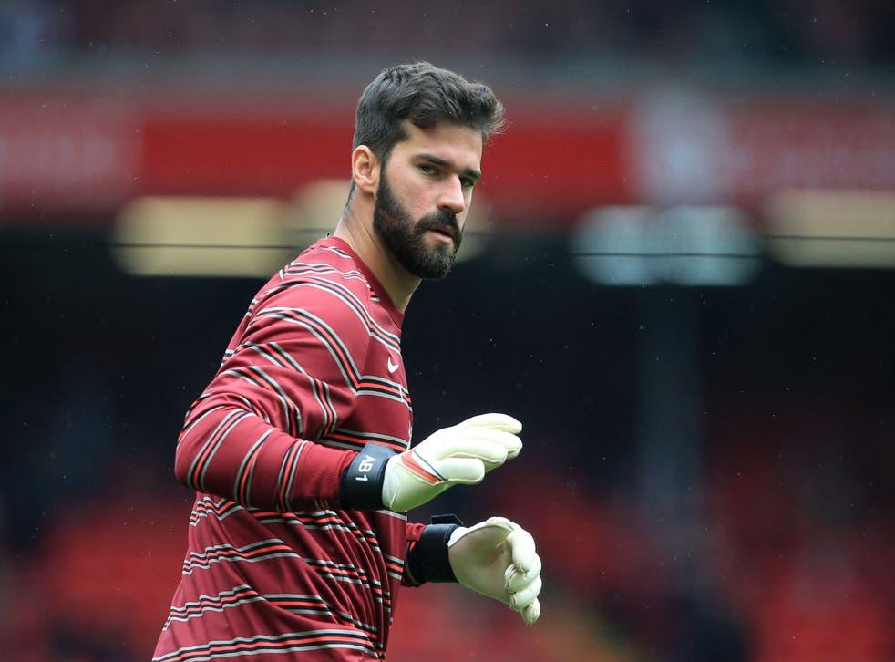 <p>Liverpool goalkeeper Alisson</p>