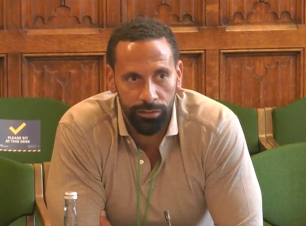 <p>Rio Ferdinand gave evidence to a joint committee of MPs and peers</p>