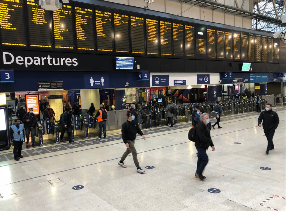 <p>Action stations? Commuters at London Waterloo, formerly the busiest transport terminal in Europe</p>
