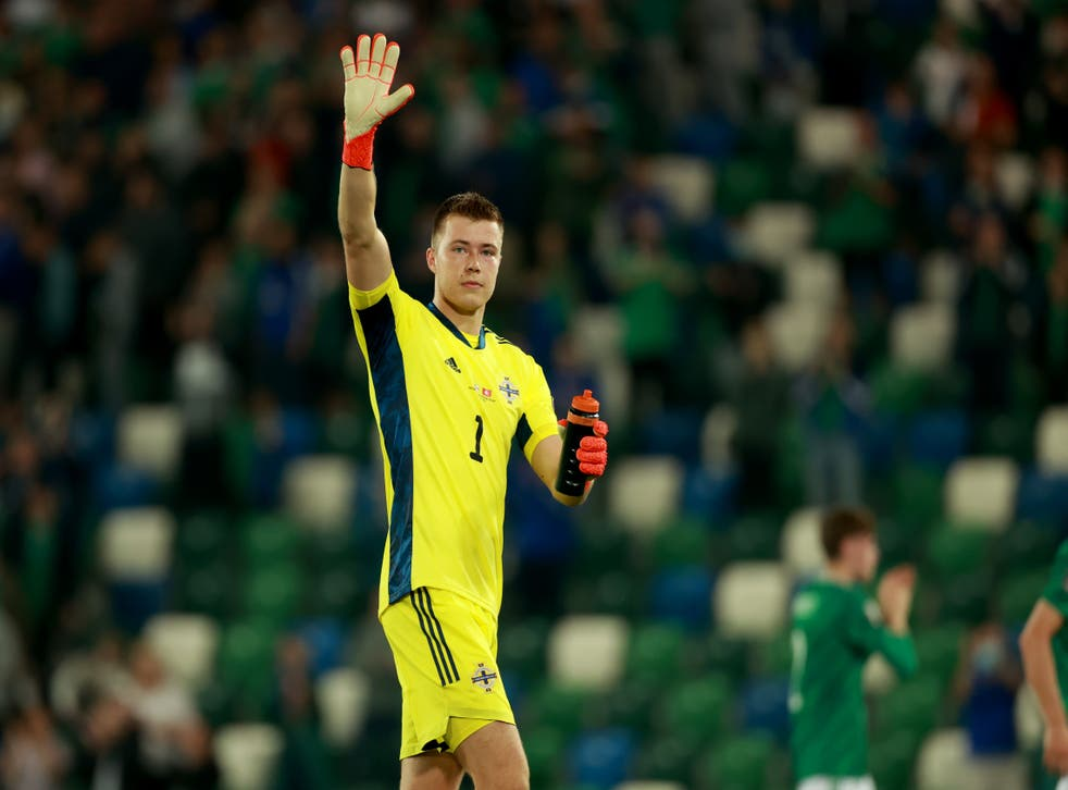 Bailey Peacock-Farrell was the hero again for Nothern Ireland with another key penalty save (Liam McBurney/PA)