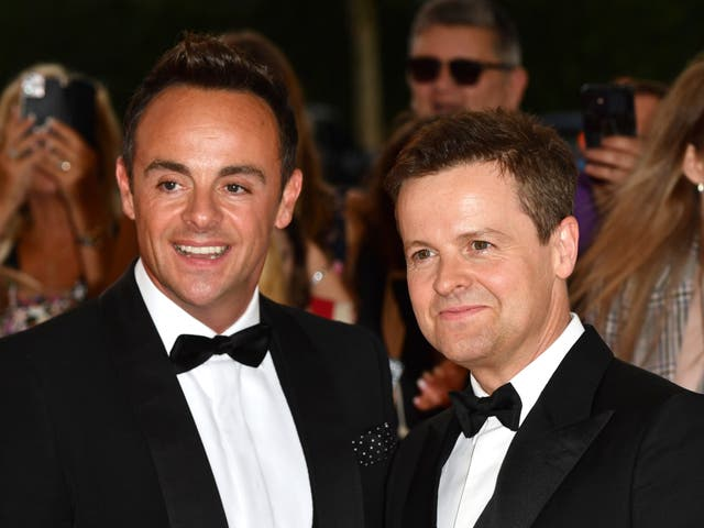 <p>Ant and Dec attending the National Television Awards 2021</p>