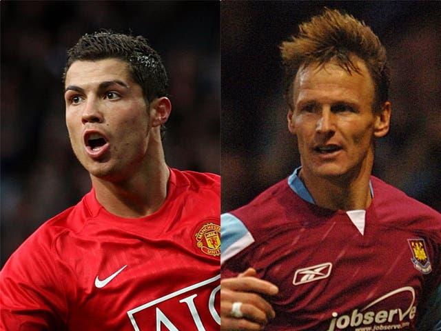 Cristiano Ronaldo will have Teddy Sheringham's record in his sights (Martin Rickett/Matthew Fearn/PA)