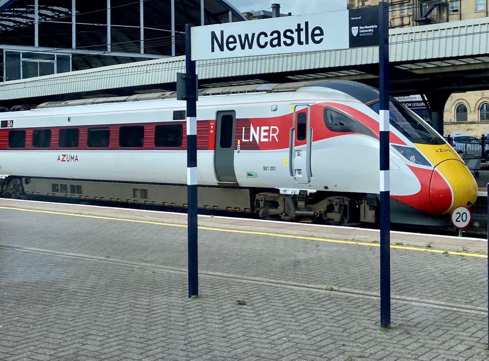 <p>Racing certainty: an LNER Azuma train at Newcastle station, heading for Edinburgh</p>