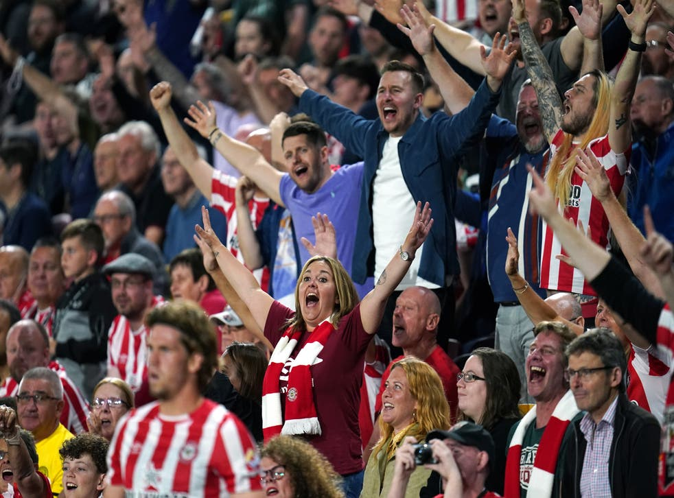 Bees fans were in full voice when Arsenal came to the Brentford Community Stadium last month (Nick Potts/PA)