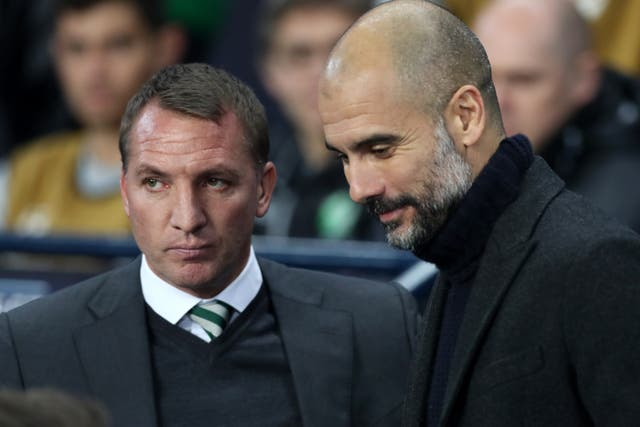 """Brendan Rodgers believes Pep Guardiola is the """"world's best manager"""" (Martin Rickett/PA)"""
