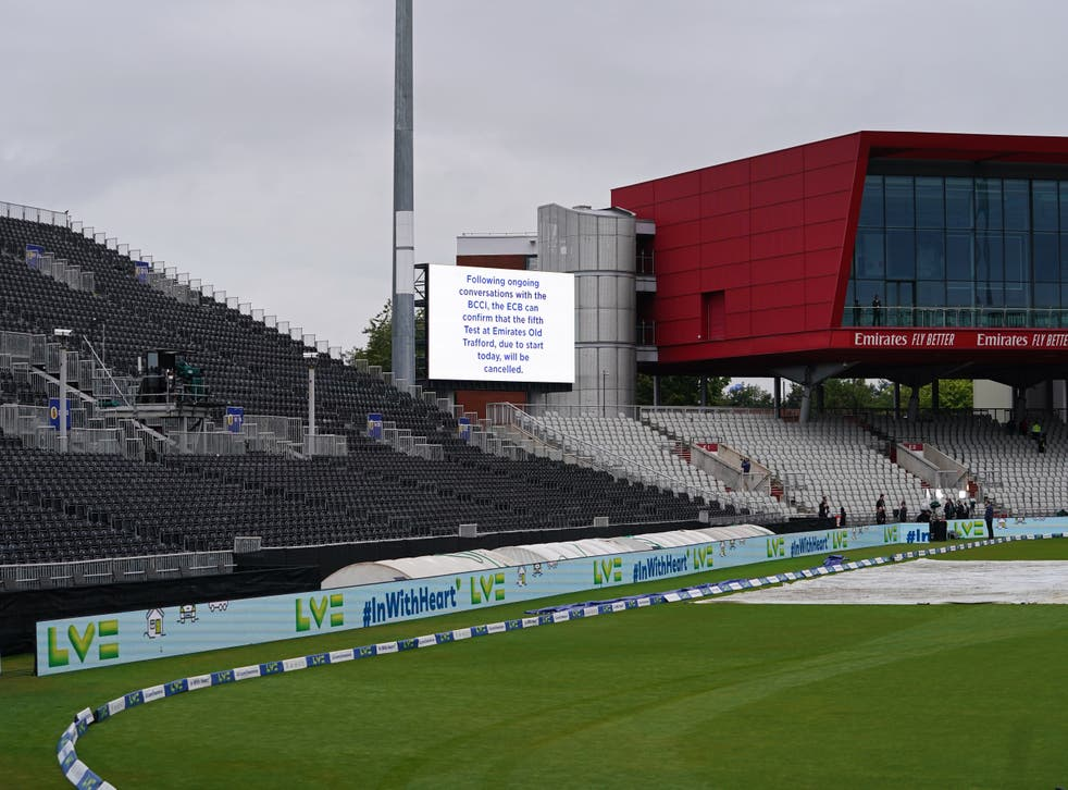 The fifth Test between England and India was cancelled on the first morning (Martin Rickett/PA)