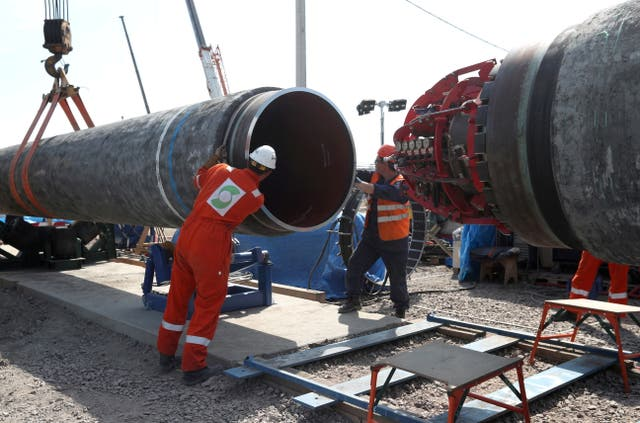 <p>Construction on the controversial pipeline has been completed</p>
