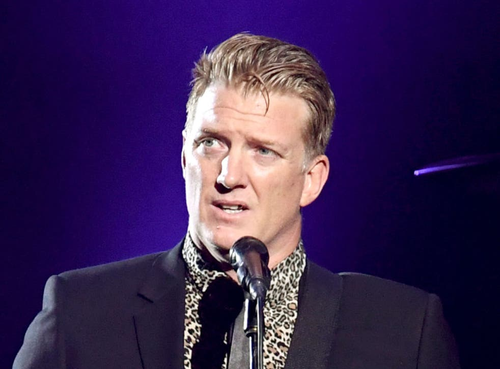 <p>Josh Homme, lead singer of the rock band Queens of the Stone Age</p>