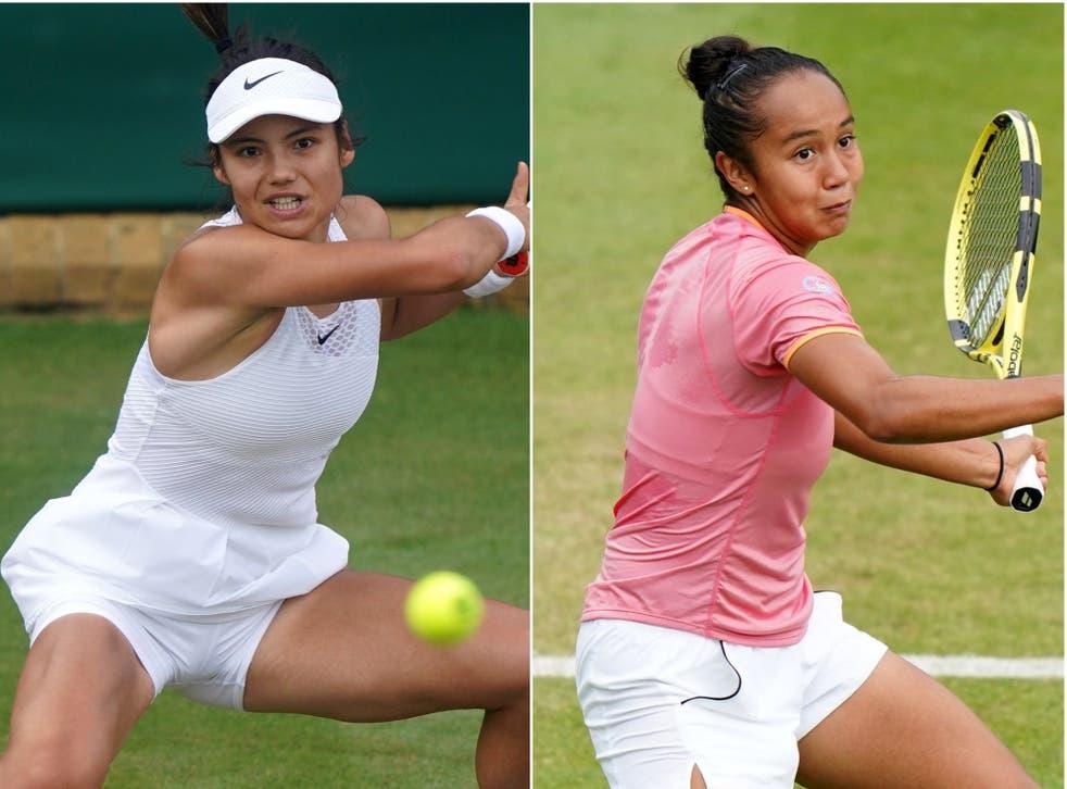 Emma Raducanu, left, will meet Canadian 19-year-old Leylah Fernandez in the final (Adam Davy/Tim Goode/PA)