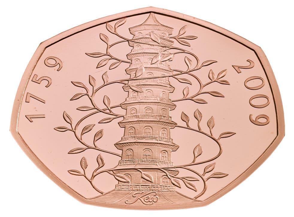 A Kew Gardens 50p trial piece (Royal Mint/PA)