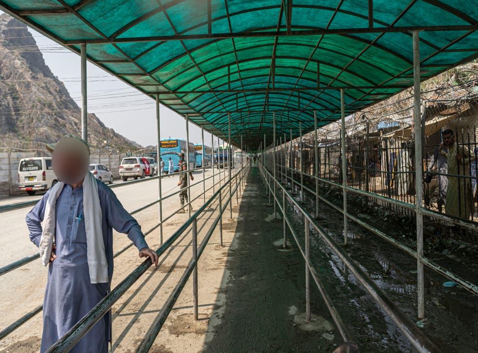 <p>Imran at the Torkham border </p>