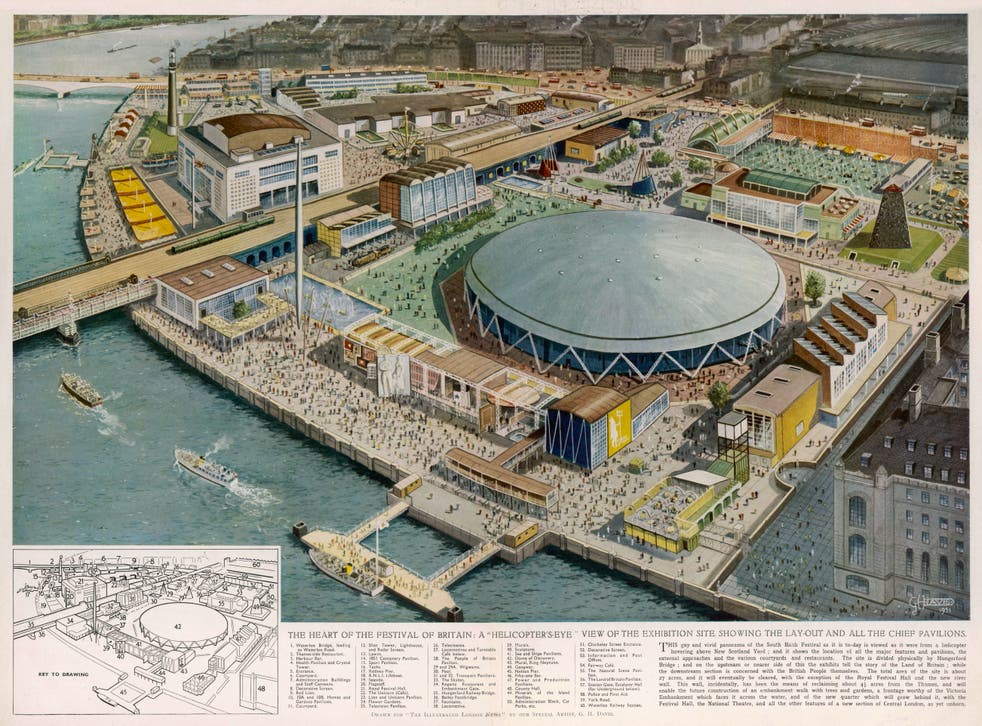 <p>The once cratered wasteland was reborn in 1951 for the Festival of Britain</p>