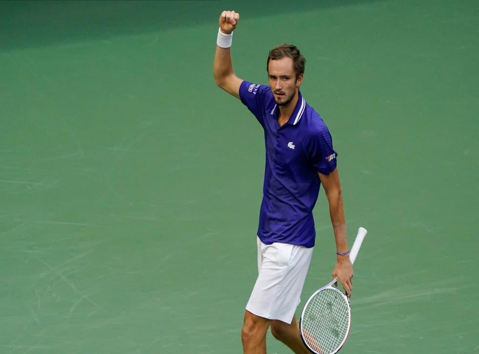 Daniil Medvedev moved into the US Open final (Elise Amendola/AP)
