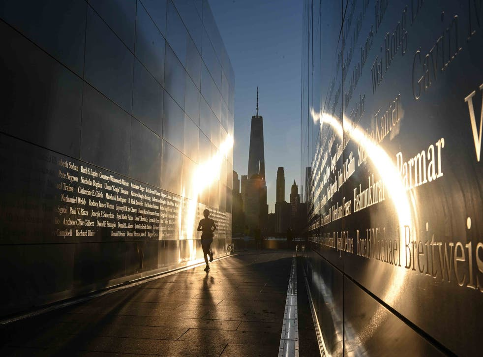 <p>The Empty Sky 9/11 Memorial in Liberty State Park  in Jersey City, New Jersey on September 11, 2021</p>