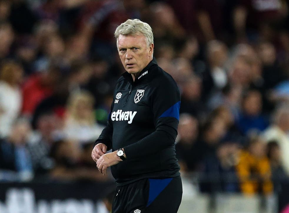 West Ham manager David Moyes saw in-form striker Michail Antonio sent off late on (Steven Paston/PA)