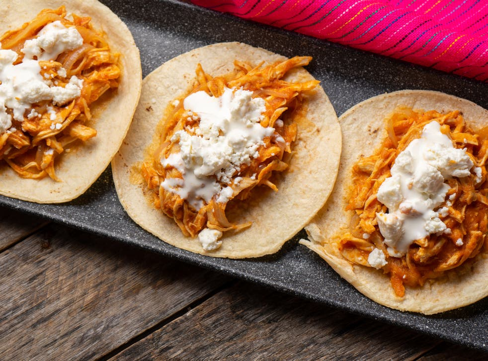 <p>Chicken tinga tacos are affordable and versatile </p>