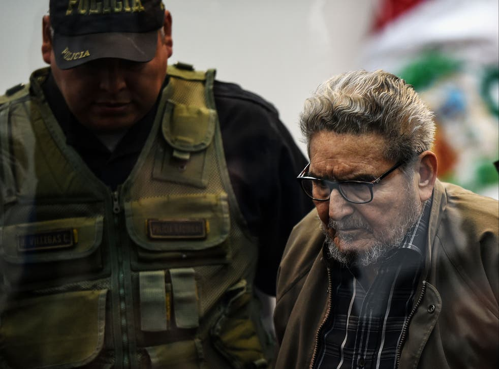 <p>Abimael Guzman had been in prison since 1992</p>