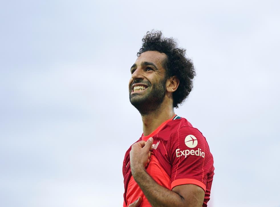 Mohamed Salah has scored his 100th Premier League goal (Joe Giddens/PA)