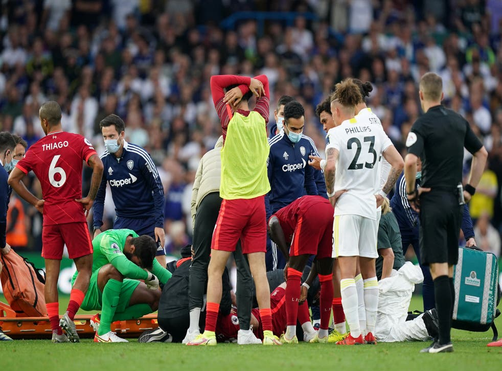 <p>Liverpool's victory was marred by a serious injury for young midfielder Harvey Elliott (Mike Egerton/PA)</p>