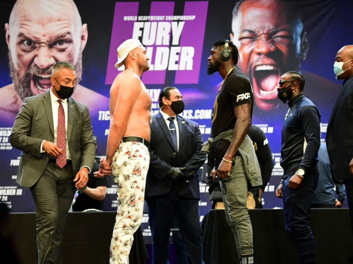 'I'm going to splatter him': Tyson Fury promises to knock out Deontay Wilder - The Independent