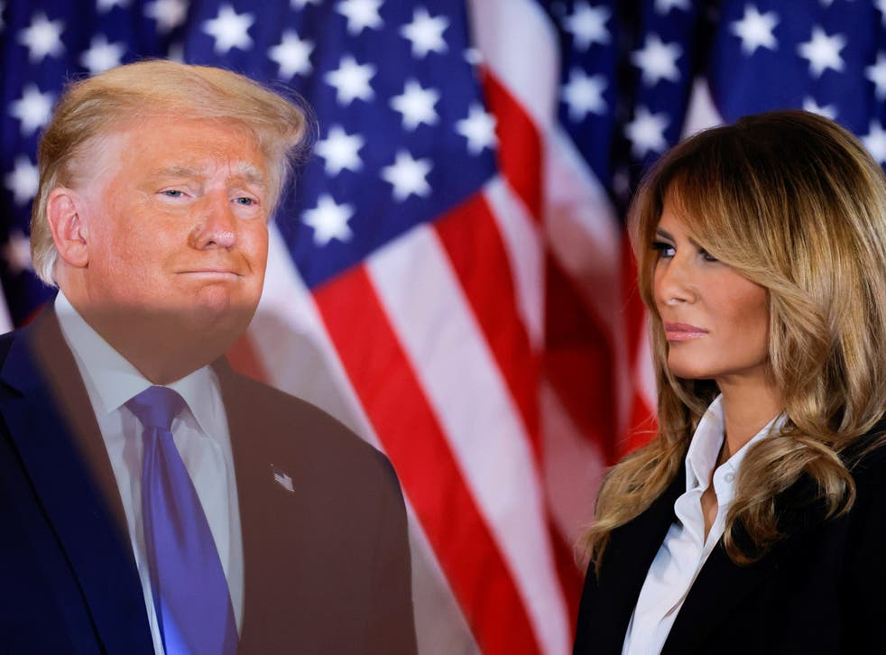 <p>Former President Donald Trump and former first lady Melania Trump </p>