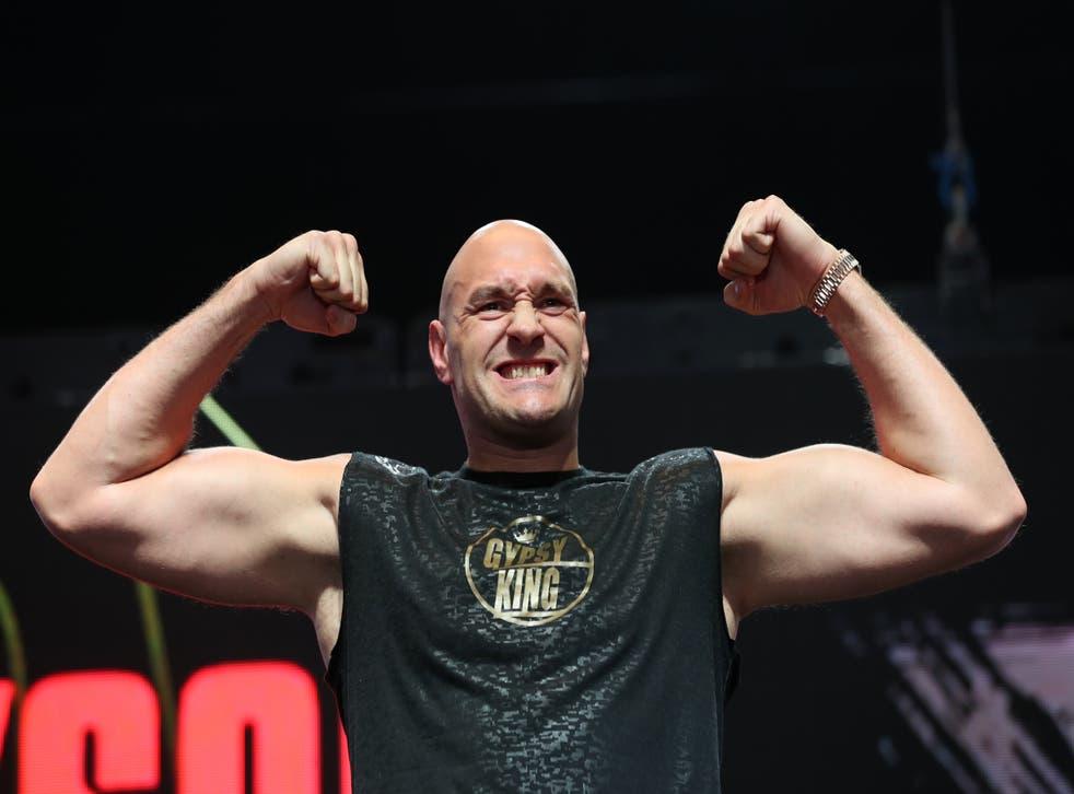 <p>Tyson Fury takes on Deontay Wilder again next month </p>