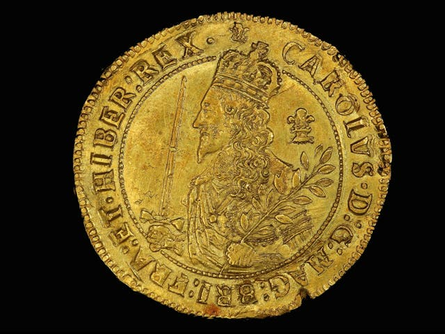 <p>The rare and expensive Triple Unite was only minted by Charles I during his Civil War exile in Oxford </p>