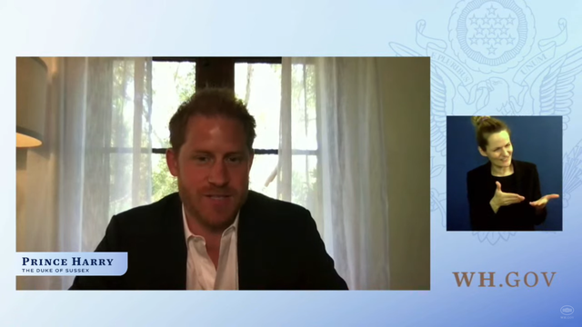 <p>Prince Harry speaks at a 'Virtual Event to Honor Warrior Games Athletes'</p>