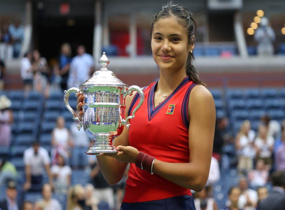 <p>Emma Raducanu is the first British player to win a grand slam singles title since Andy Murray's last Wimbledon crown in 2016 </p>