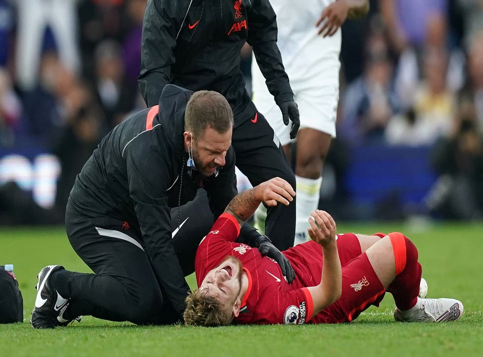 Harvey Elliott dislocated his ankle during Sunday's win over Leeds (Mike Egerton/PA)