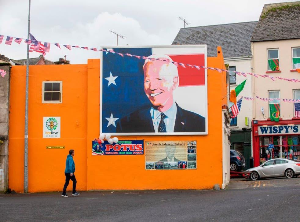 <p>Mural to President Biden in Ballina, County Mayo</p>