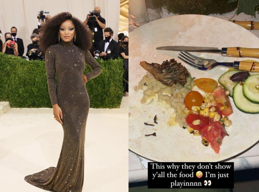 <p>Keke Palmer jokingly criticises Met Gala food</p>