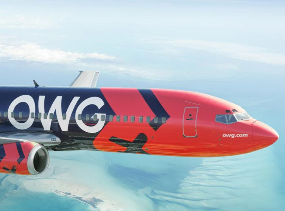 <p>Off we go: an OWG Boeing 737, featuring High Love</p>