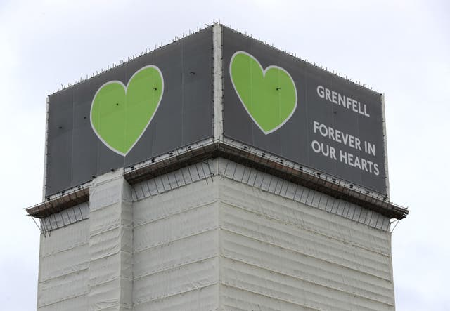 <p>The 2019 inquiry found that the cladding acted as a 'source of fuel' for the fire </p>