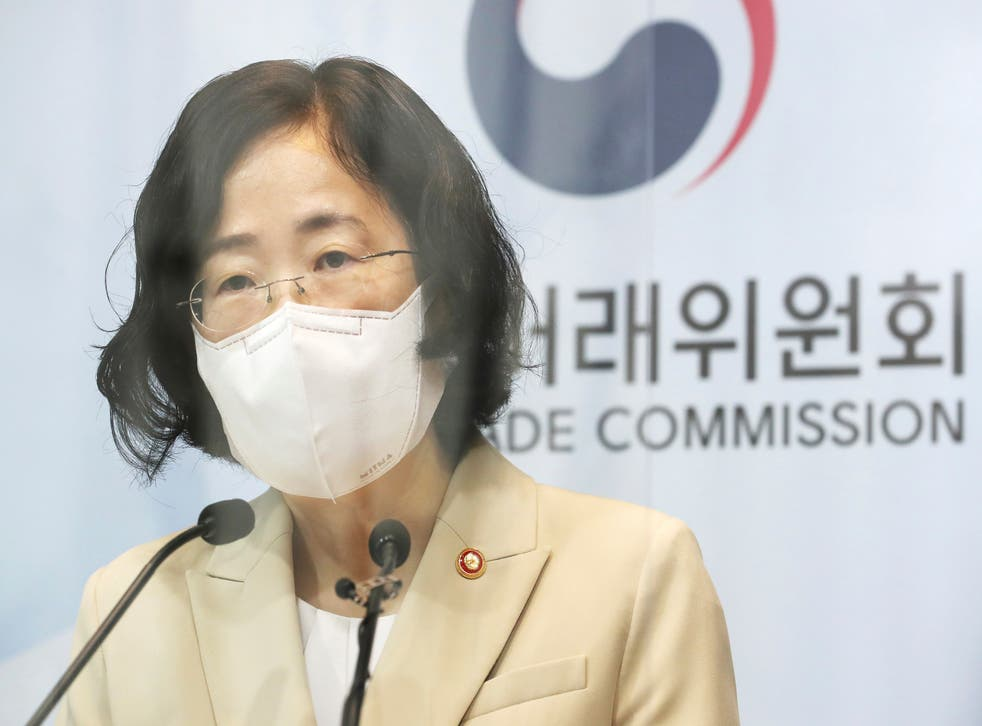 <p>Joh Sung-wook, chair of South Korea's Fair Trade Commission, announces plans to fine Google</p>