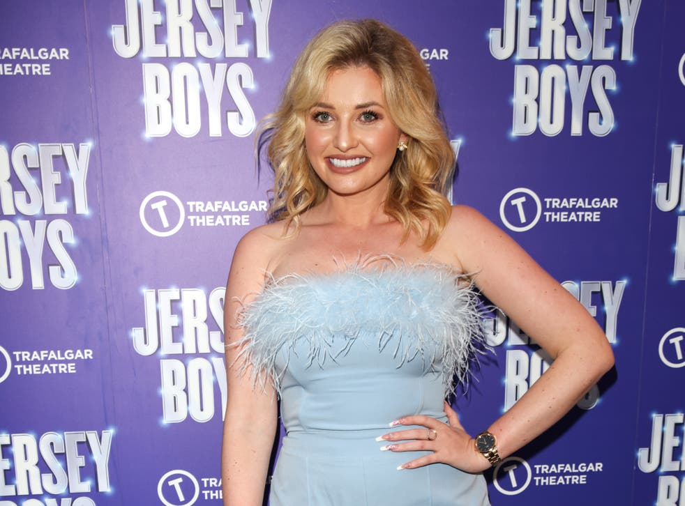 <p>Amy Hart at the 'Jersey Boys' press night in August</p>
