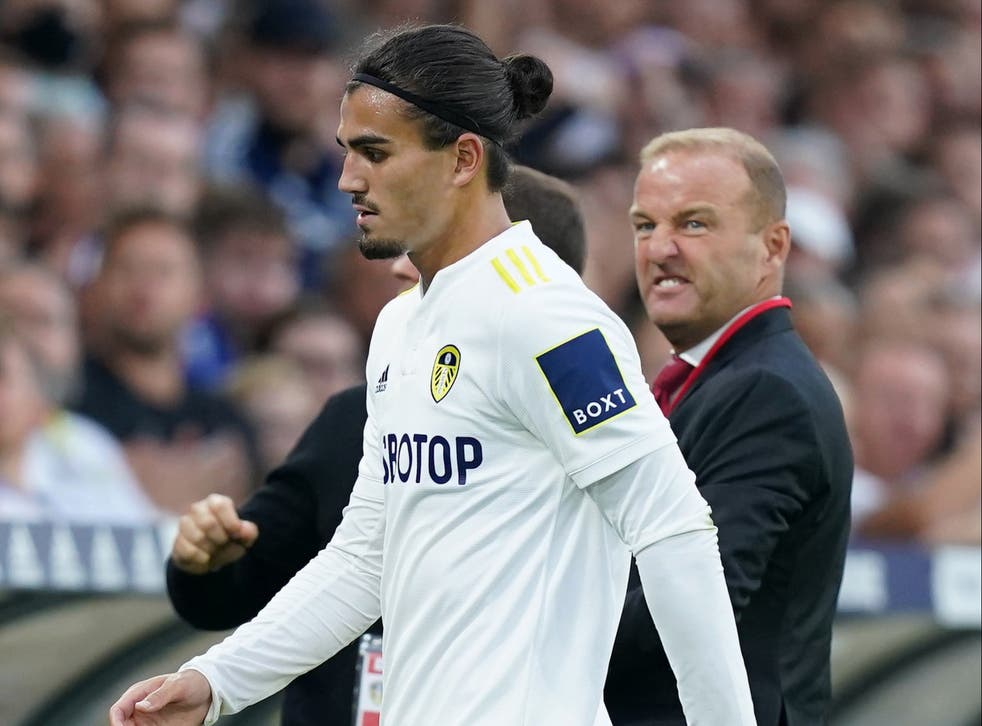 <p>Pascal Struijk was sent off in the second half of Leeds' loss to Liverpool </p>