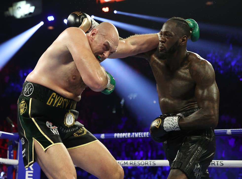 <p>Wilder's third fight against Fury was postponed as the Briton said he had tested positive for Covid</p>