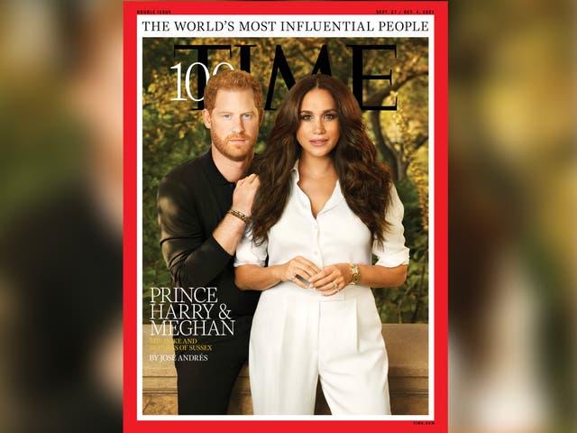 El príncipe Harry y Meghan Markle cubren la revista Time