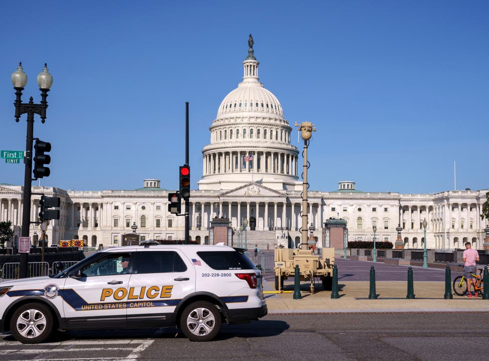 <p>The Capitol Police have requested the support of the National Guard on Saturday if events get violent </p>