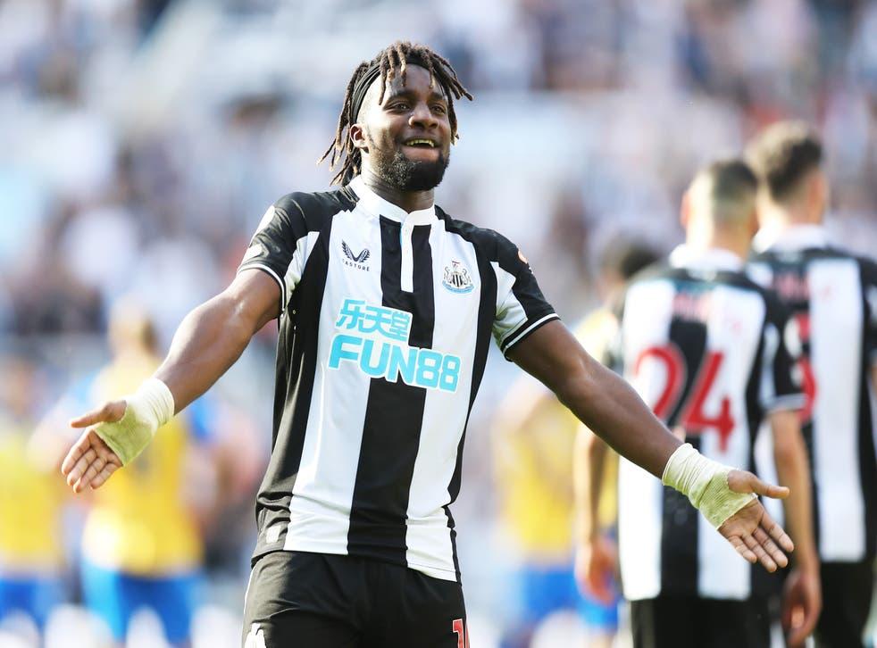 <p>Newcastle forward Allan Saint-Maximin </p>
