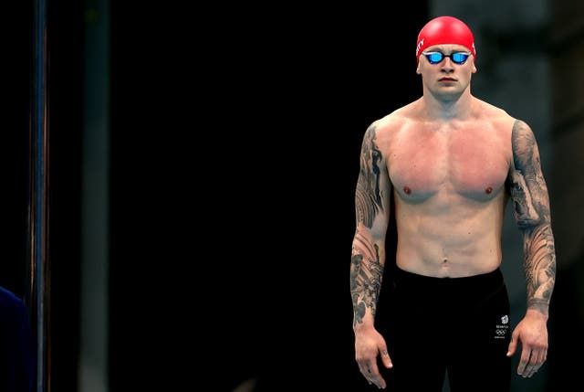 <p>Adam Peaty successfully defended his Olympic title in Tokyo</p>