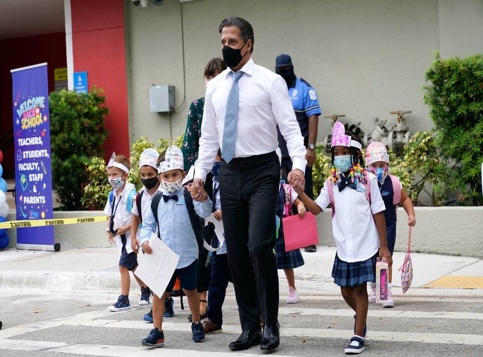 Virus Outbreak Florida School Masks