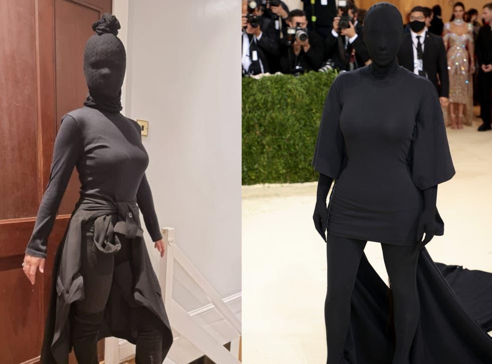 <p>Charlotte Sturge recreates Kim Kardashian's Met Gala look</p>