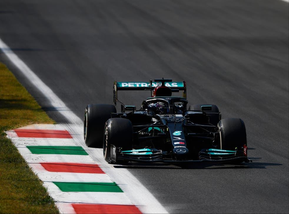 <p>Lewis Hamilton in action at the Formula One Italian Grand Prix</p>