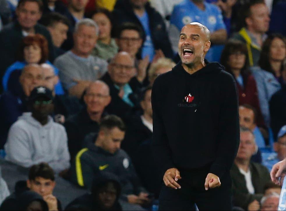 <p>Pep Guardiola wants more fans at Manchester City games </p>