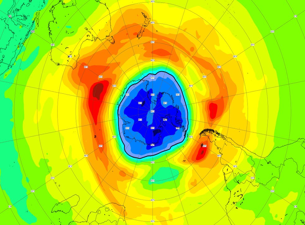 ANTÁRTIDA-AGUJERO CAPA OZONO