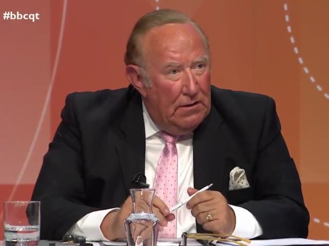 <p>Andrew Neil told the BBC's 'Question Time' that he left GB News because the direction of the channel was not the direction he had outlined </p>