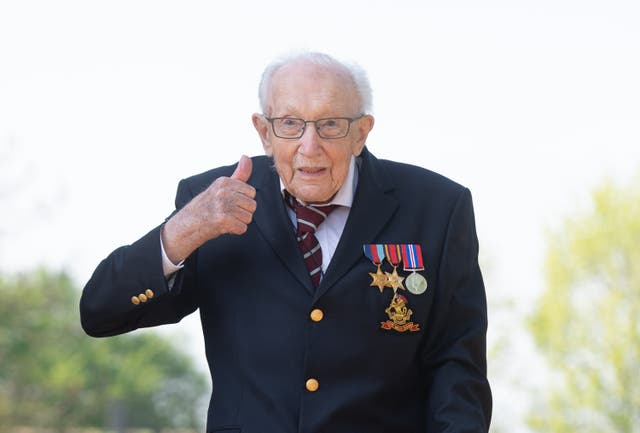 <p>Captain Sir Tom Moore would have 'loved' the book One Hundred Reasons To Hope, his daughter said. (Joe Giddens/ PA)</p>