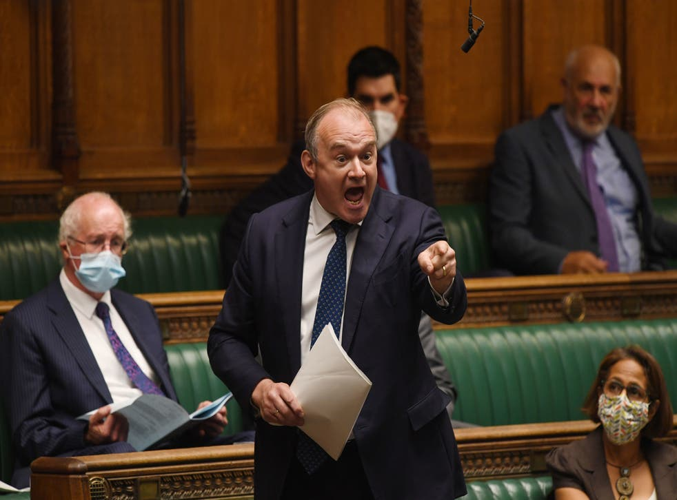<p>Ed Davey  said local people should be allowed to block housing developments – but denied that meant less housebuilding </p>